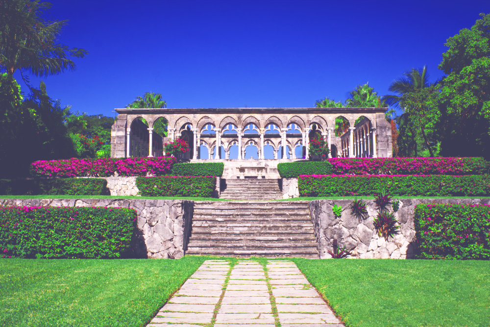 Stone structure at versailles gardens and french cloister bahamas