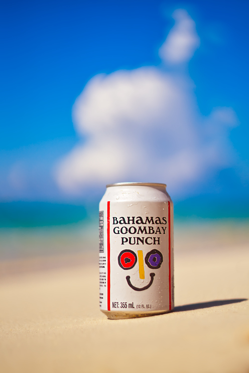 soda can beach Goombay punch Bahamas sky blue drink