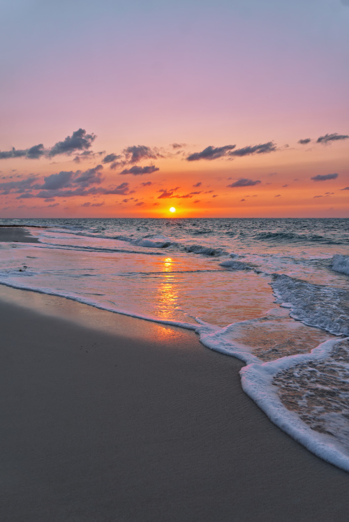 dramatic sunset golden hour photography Bahamas
