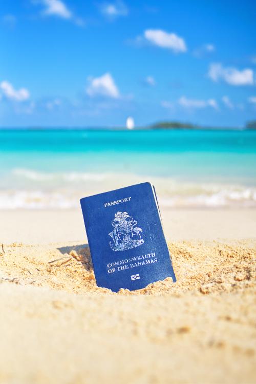 Passport nature sandy beach summer travel water ocean paradise
